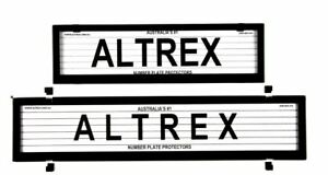 Altrex Number Plate Cover European Style  6 Figure With Lines