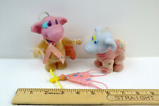 Vtg 1980s Hasbro Moon Dreamers Stardust & Stumbles Snoozer Dolls Flocked Bodies