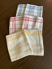 New ListingLot of 6 Vintage Linen Towels Fabric Dish Towels- Blue/Yellow/Red/White