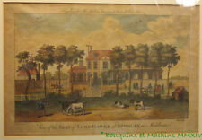 View of the Seat of Lord Hawke at Sunbury in Middlesex Gravure anglaise ancienne