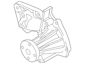 Genuine Ford Water Pump 7S7Z-8501-C