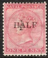 South Africa Natal 1877 1/2 on 1d rose overprint T19 crown CC mint SG85