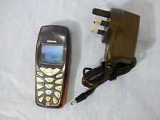 NOKIA 3510i CLASSIC SIMPLE KIDS ELDERLY MOBILE PHONE BLUE ORANGE seems unlocked