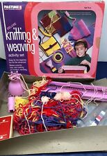 Pastime Deluxe Knitting And Weaving Activity Kit 1992 Hats Scarves Yarn Loom
