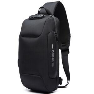 Sling Backpack Oxford cloth Waterproof&Anti-theft Crossbody Shoulder Bag USBPort
