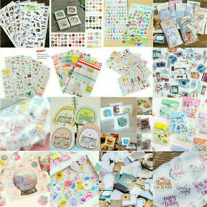 Lots DIY Craft Calendar Scrapbook Diary Book Decor Planner Paper Stickers Set