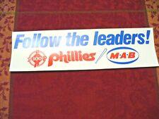 "MLB - Philadelphia Phillies Bumper Sticker - ""100 years"" - (MAB Paints) - NEW"