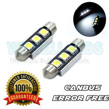 2x Mini Cooper R50 R52 R53 R56 R57 3 SMD LED Bombillas De Matrícula Libre De Errores Blanco