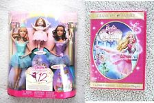 LOT 12 DANCING PRINCESSES BARBIE: 3 DOLLS & SEALED DVD (MUÑECA). BRAND NEW!