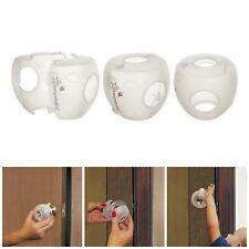 3x Children Safety Lock Door Knob Cover Child Proof Safe Translucent Clear