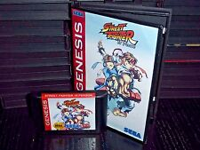 Street Fighter 18 Person for Sega Genesis! Cart and Box