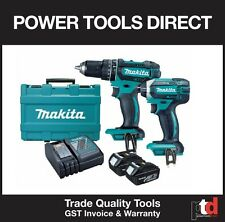 NEW MAKITA 18V CORDLESS DLX2131 BRUSHED 2 PIECE COMBO WITH BATTERIES/CHARGER