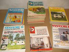 """GROS LOT de REVUES """" SYSTEM D """" MENSUEL BRICOLAGE  1955 à 1980"""