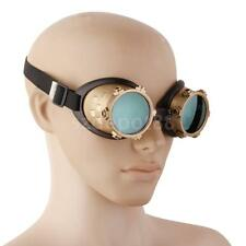 Vintage Brass Steampunk Goggles Cyber Punk Biker Gothic Rave Cosplay Glasses