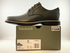 Timberland Woodhull Oxford Shoes Men Size 10 Black Full Grain TB 0A1XSX 001