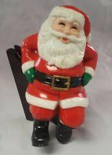 Christmas Collection Porcelain Stocking Hanger Santa