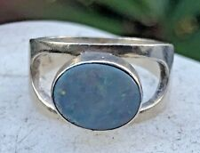 Vintage 925 Silver & Opal Ring Size 5.5