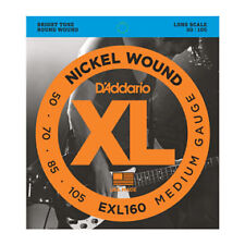 2x D'Addario EXL160 Nickel Wound Electric Bass Guitar Strings Medium 50 - 105