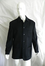 VINTAGE EMMANUELLE KHANH HOMME BLACK WOOL CASHMERE DRESS JACKET SZ 54