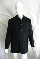 VINTAGE EMMANUELLE KHANH HOMME BLACK WOOL CASHMERE DRESS JACKET SZ 54