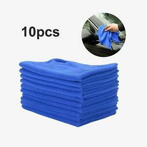 10 x LARGE MICROFIBRE CLEANING CAR DETAILING SOFT CLOTHS WASH TOWEL DUSTER