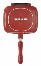 Happy Call Double-Sided Pan w/ Magnetic Handle Aluminum Stainless Steel 3 Layers