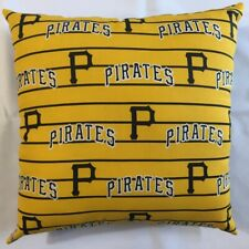 COMPLETE NEW 15 x 15 PITTSBURGH PIRATES MLB THROWBACK PILLOW BASEBALL GIFT!