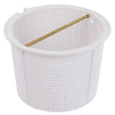 Quiptron PBS962 Skimmer Basket with Brass Handle - White