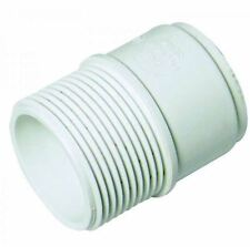 FLOPLAST ABS Solvent 40mm Male Adapter - White - Bag of 2