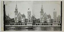 Exposition universelle de Paris 1900 Pavillon de l'Allemagne et Monaco Plaque