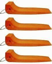 Safety Orange 48-2 Set of 4 Single Wide Tire Skates Roll Back Wrecker TowTruck