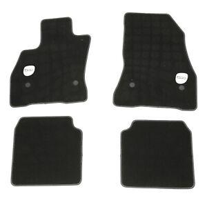 2014-2017 FIAT 500L BLACK PREMIUM FLOOR MATS WITH WHITE STITCHING OEM MOPAR NEW