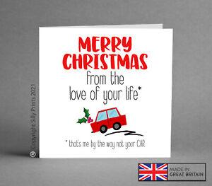 FUNNY CHRISTMAS CARD love of life car BMW AUDI wife husband boyfriend rude K50