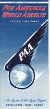 PAA Pan American World Airways timetable 1951/10/01