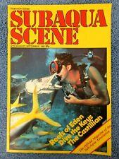Vintage Scuba Subaqua Scene Magazine August 1981 Key Largo Capt. Slate & Oscar