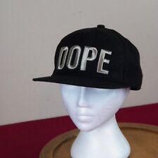 Dope Baseball Hat Cap Hard Brim Snap Back One Size Embroidered