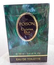 Christian DIOR POISON eau de toilette 100 ml Splash pre-codice a barre, VINTAGE ref.6304
