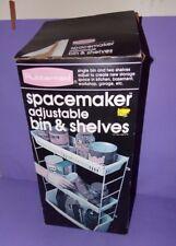 Vtg NOS New Box 1982 RubberMaid SpaceMaker Adjustable Bin Shelves Rack Organizer