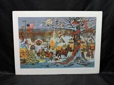 Charles Wysocki Small Town Christmas Art Print Signed Numbered Horse Sleigh Ride