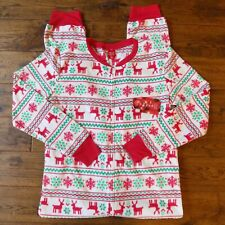 Jammies For Your Families Womens One Pc Pajamas Christmas Reindeer Size S