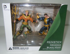 Aquaman vs Black Adam DC Collectibles Injustice Action Figure 2-Pack New Sealed