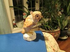 HEREND BEAUTIFUL PORCELAIN natual coler OWL FIGURINE