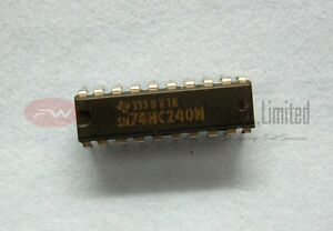 TI SN74HC240N 74HC240 Buffer Driver Receiver Logic IC DIP20 x 1pc