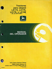 """PUBBLICITA'-J. DEERE """" Tractores para cèsped LX172-LX176-LX178- Y LX188 """" MANUAL"""