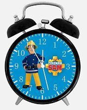 """Fireman Sam Alarm Desk Clock 3.75"""" Home or Office Decor E185 Nice For Gift"""