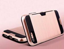 Iphone 7 plus Case (avec porte-carte) Brossé Design, pare-chocs style ***