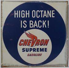 Chevron Supreme High Octane Gasoline Metal Sign