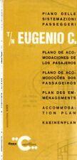 Costa Line EUGENIO C Tissue Deck Plan from 1970s/80s - Excellent condition