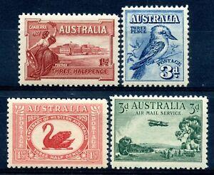 Weeda Australia 94, 95, 103, C1 MNH quartet of 1927-29 issues CV $26.10