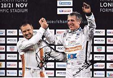 Jason Plato & Andy Priaulx SIGNED 12x8 Race of Champions London  November 2015